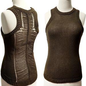 A.L.C. Open Knit Tank Top Crochet Back XS